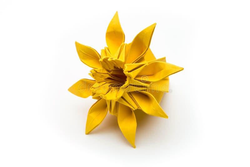 origami blume stockfoto bild von hochentwickelt gelb 52114572. Black Bedroom Furniture Sets. Home Design Ideas