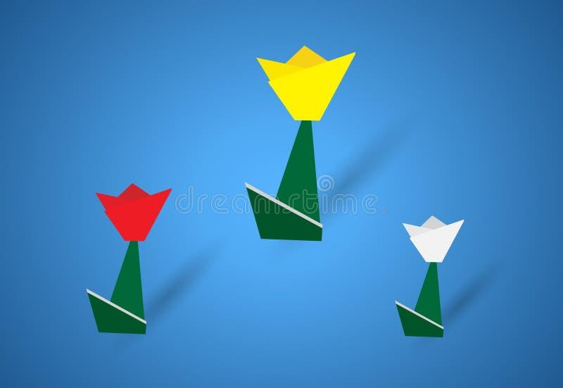 Origami Blumen vektor abbildung