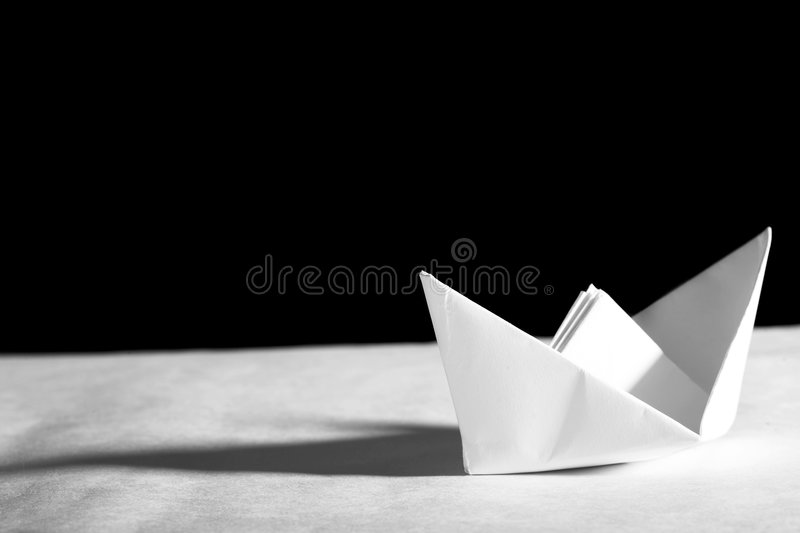 Origami boat stock photography