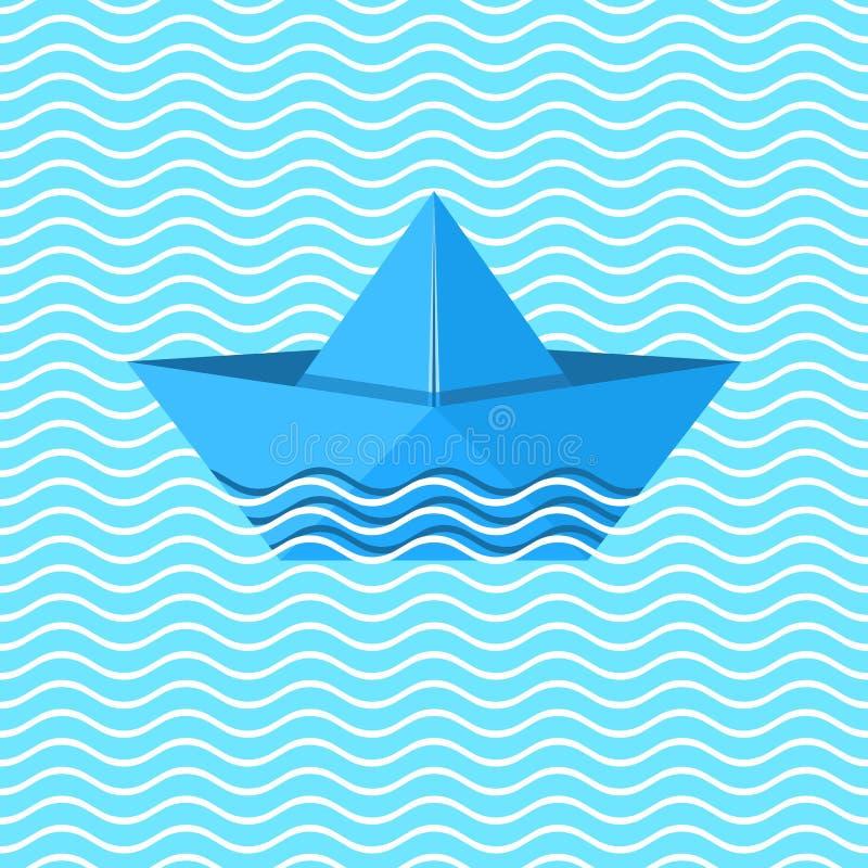 Origami Boot vektor abbildung