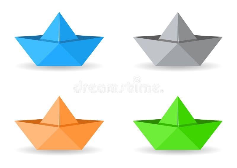 Origami Boote lizenzfreie abbildung