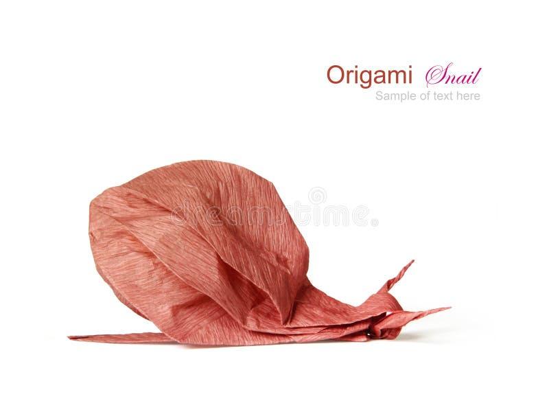 Origami brown ślimaczek zdjęcie royalty free