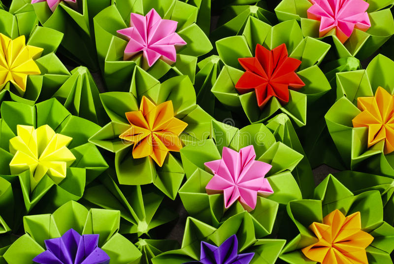 Origami bunch stock photos