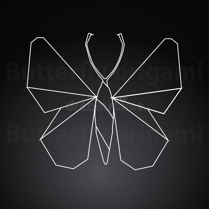 Origami butterfly paper creative art vector illustration