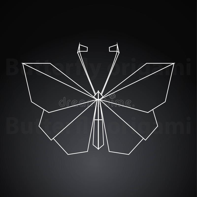 Origami butterfly paper creative art royalty free illustration