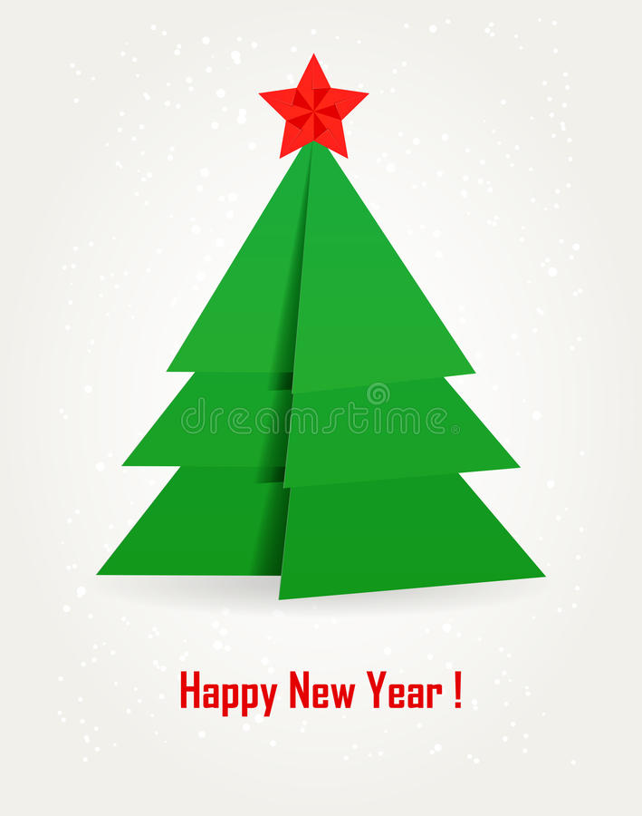 Download Origami Christmas tree. stock vector. Image of icons - 19441767