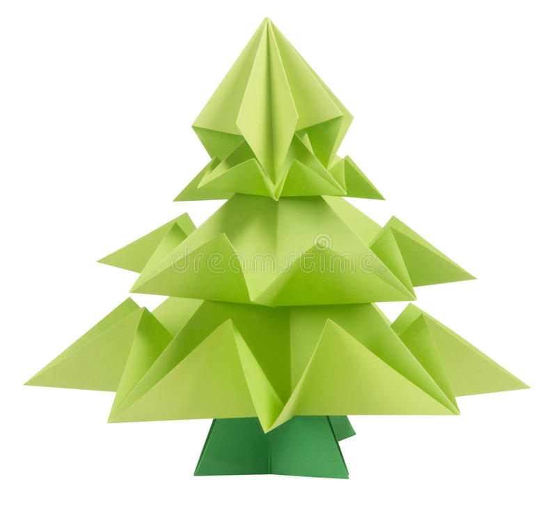 Origami Christmas tree royalty free stock photography