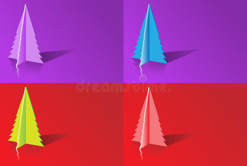 Download Origami Christmas tree stock vector. Image of souvenir - 21510809