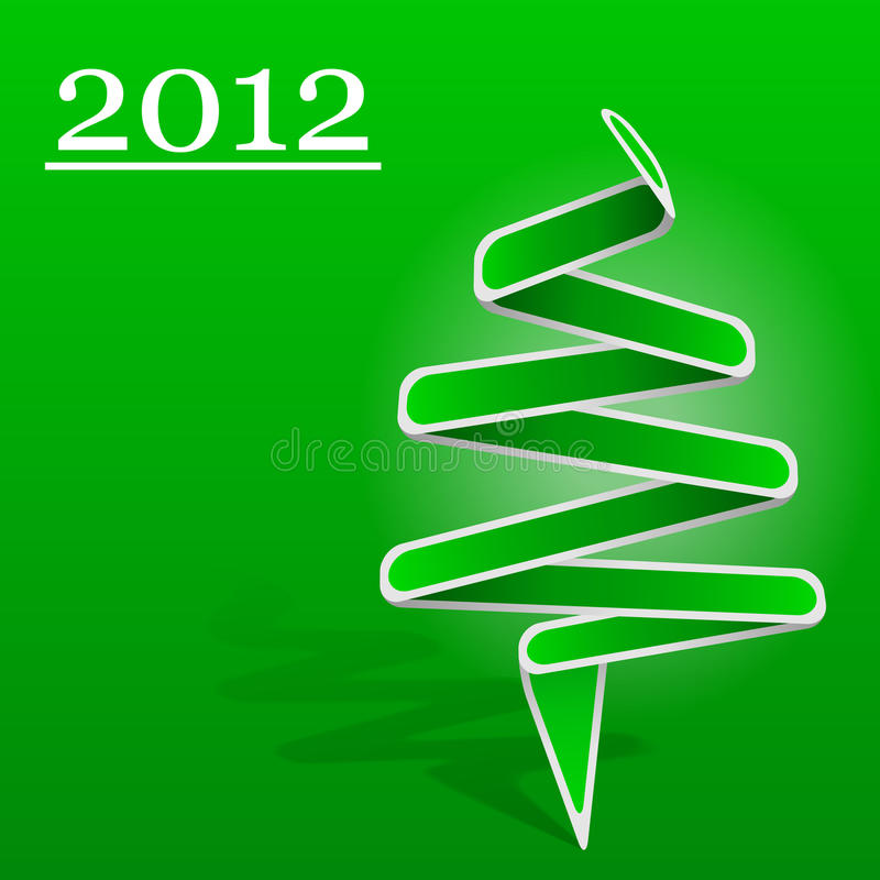 Download Origami Christmas Tree stock vector. Image of year, card - 21909023