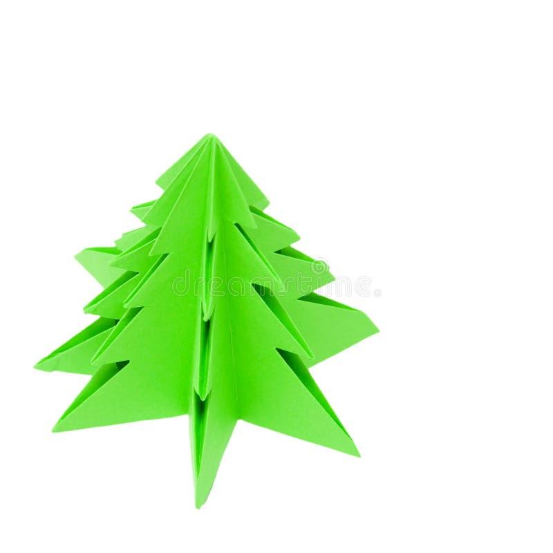 Origami Christmas Tree, Royalty Free Stock Photo