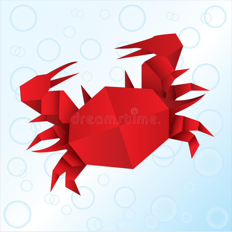 Origami crab royalty free illustration