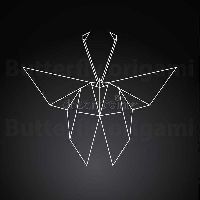 Origami butterfly paper creative art stock illustration