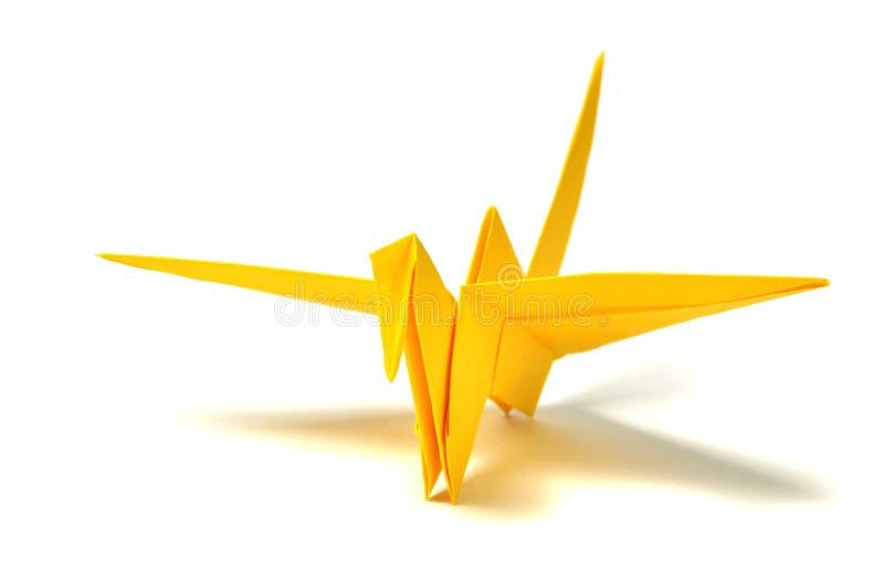origami dźwigowy kolor żółty zdjęcie royalty free