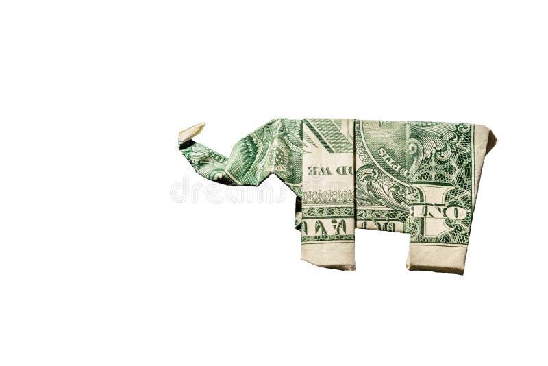 Origami d'éléphant images libres de droits