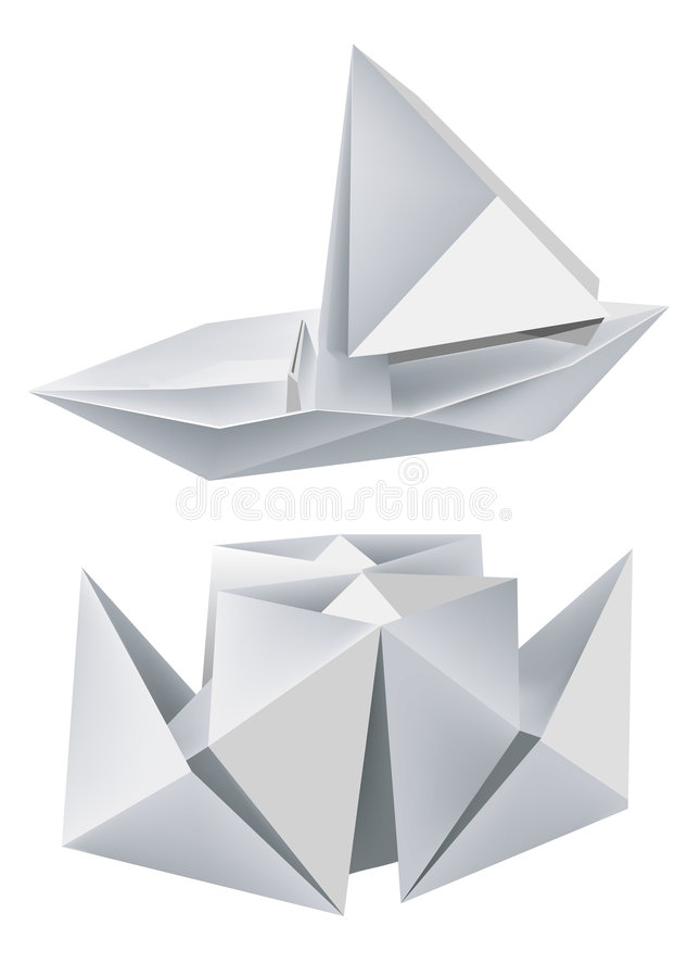 Origami de bateaux photographie stock image 8559432 - Origami bateau facile ...