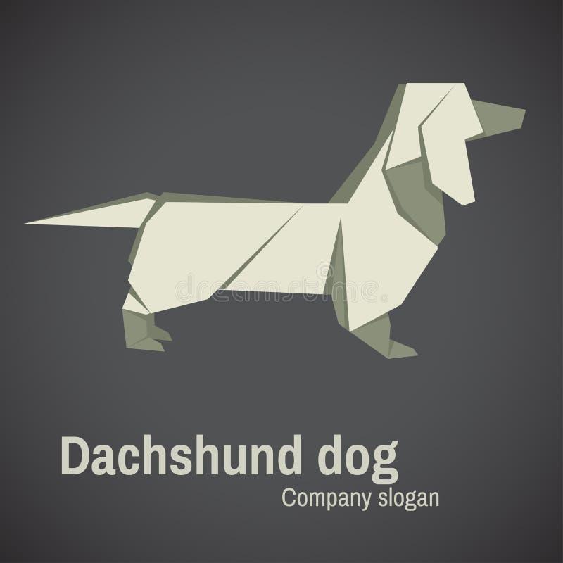 Origami de chien de teckel illustration libre de droits