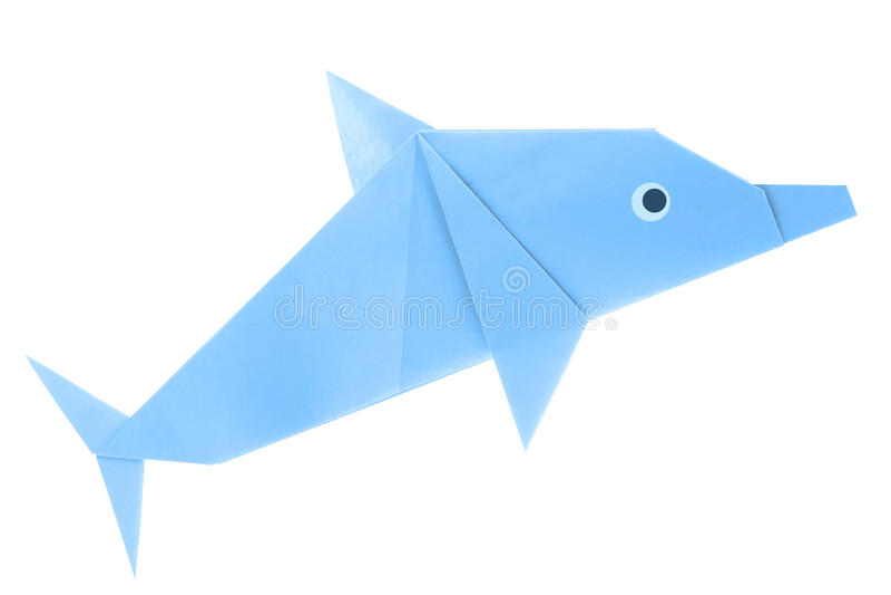 origami facile dauphin