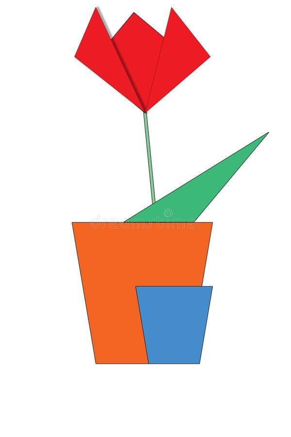 origami de fleur photo libre de droits