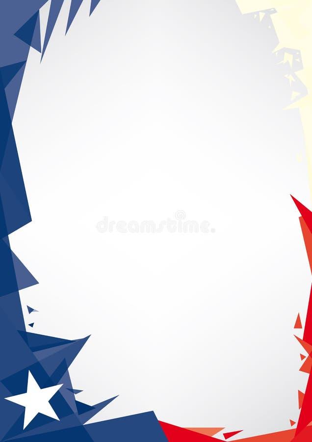 Origami de fond du Texas illustration libre de droits