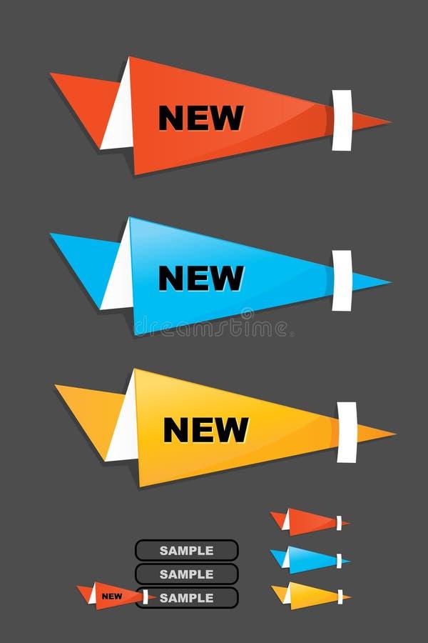 Origami de la etiqueta de la venta ilustración del vector