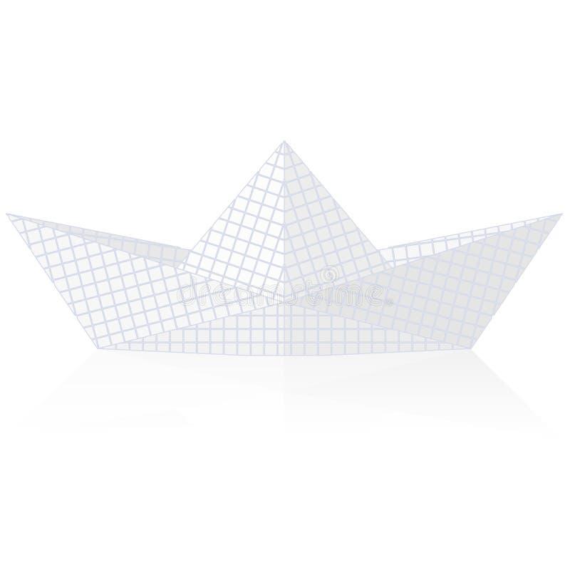Origami de papier de bateau illustration stock