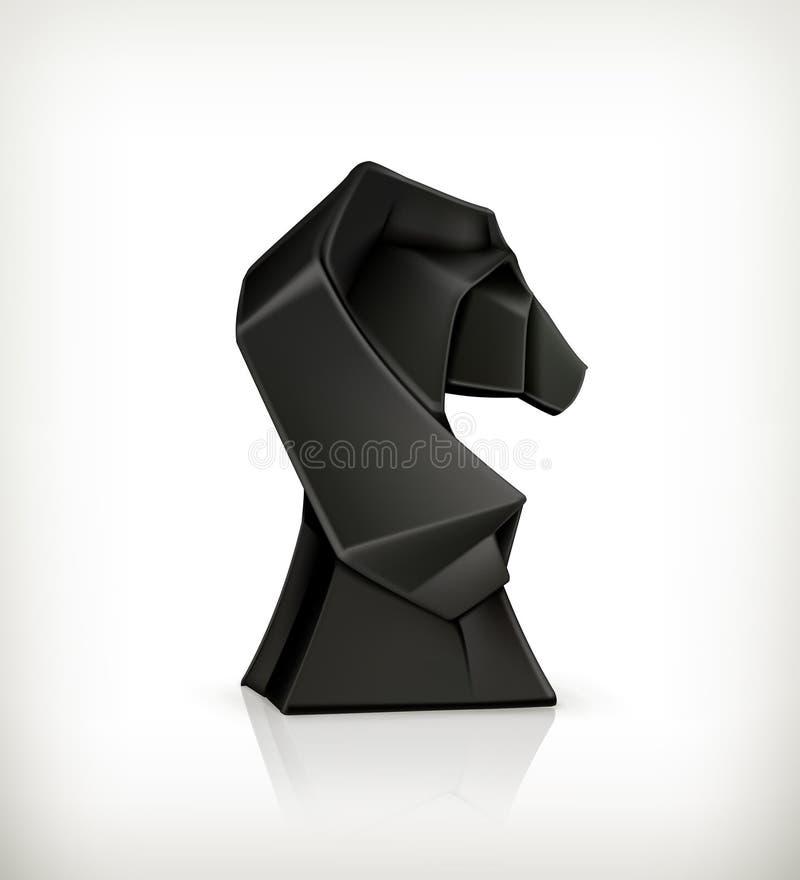 Origami de papier de cheval illustration libre de droits
