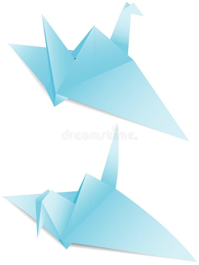 Origami de papier de grue illustration stock