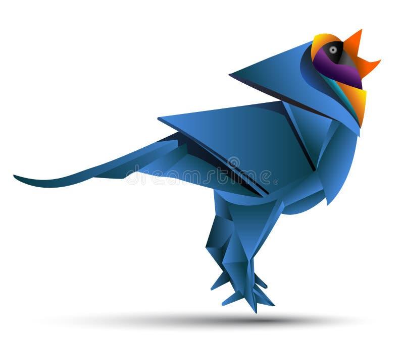 Origami de vecteur d'oiseau illustration libre de droits