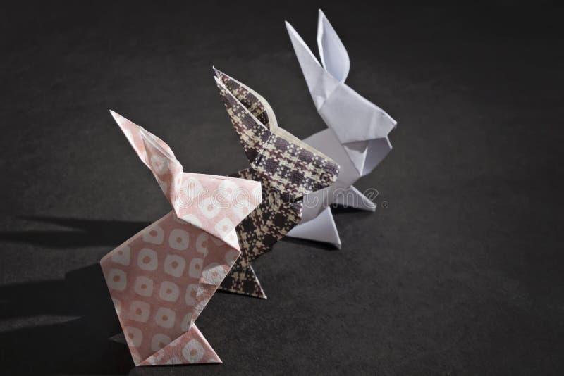Origami dei conigli immagine stock