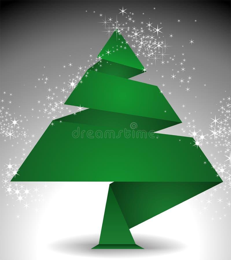 Origami del árbol de navidad libre illustration