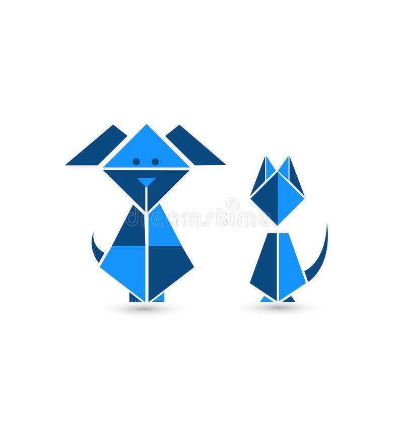 Origami del gatto e del cane
