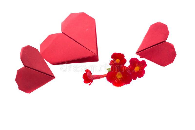 Origami des Herzens lizenzfreie stockfotos