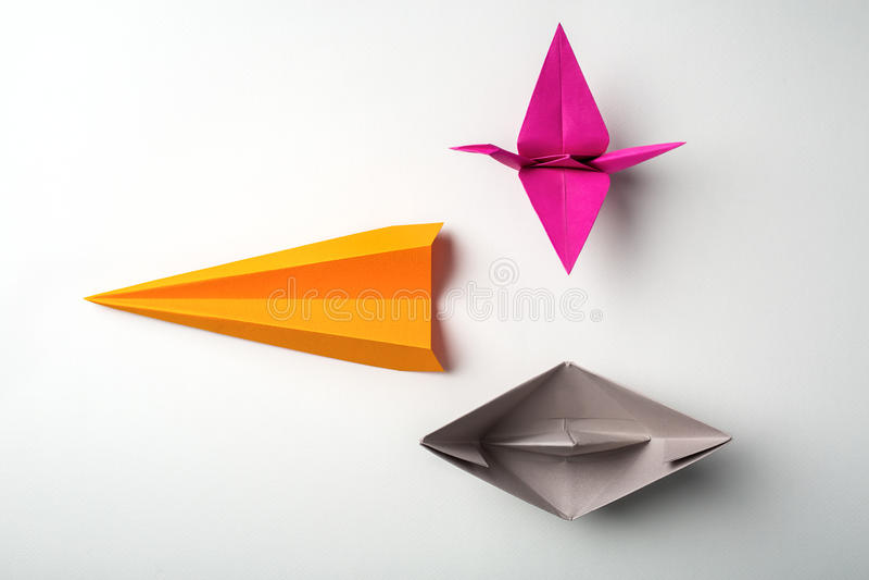 Origami di carta immagini stock libere da diritti