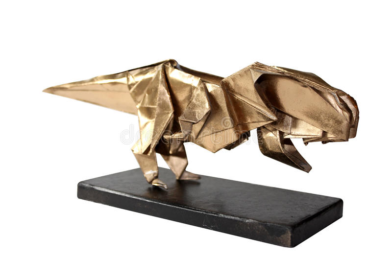Download Origami Dinosaur T REX Isolated On White 2 Stock Image