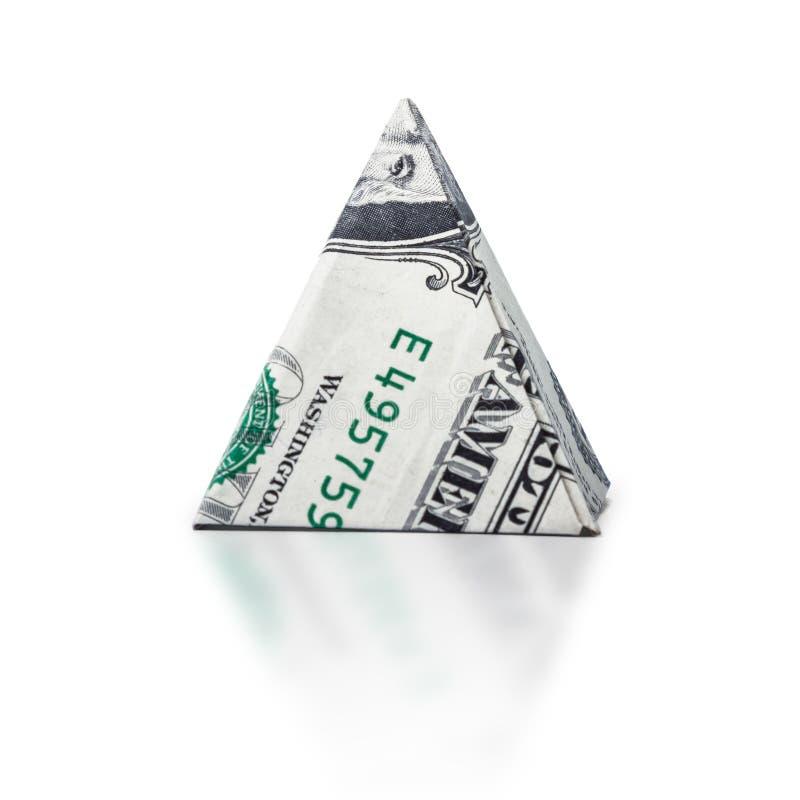 Free Origami Dollar Pyramid Royalty Free Stock Photography - 92470507