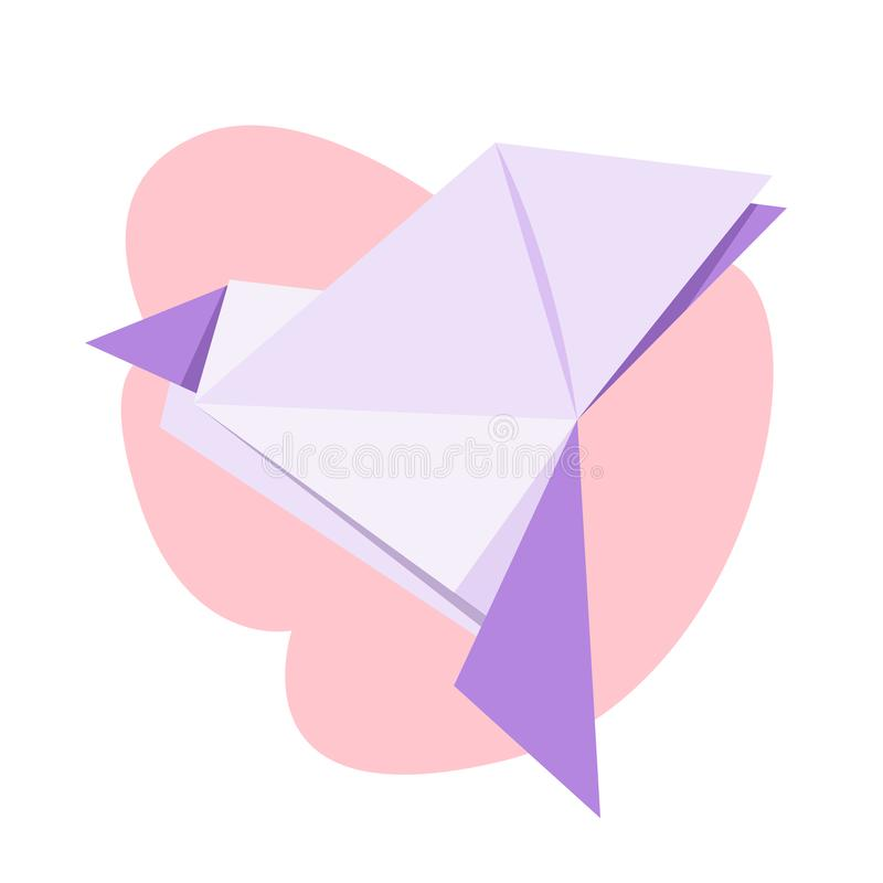 Origami dove. International symbol of peace, polygonal stock illustration