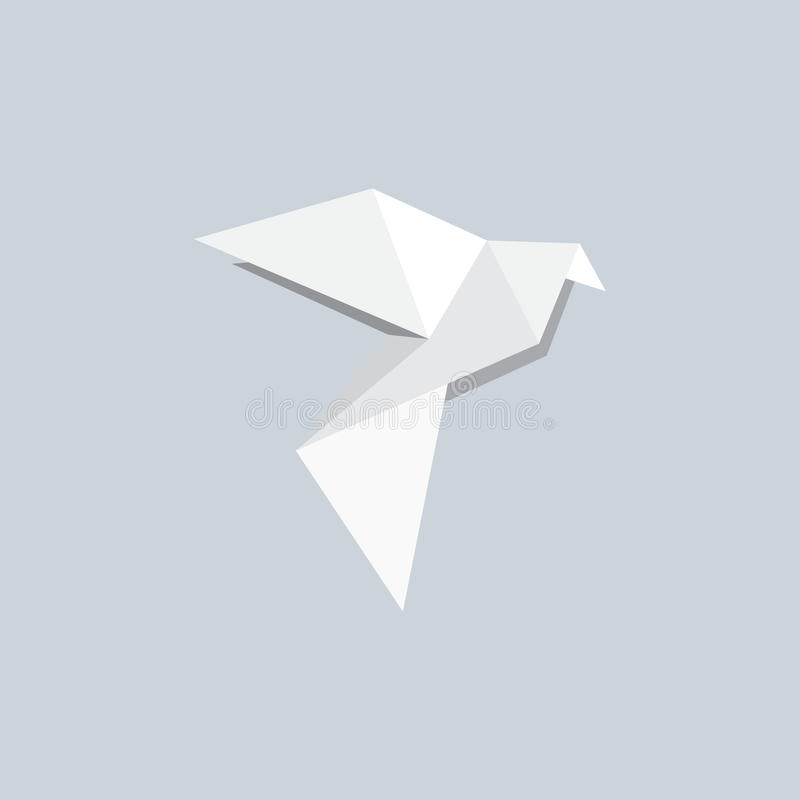 Origami Dove. Pigeons or doves are the bird family Columbidae. The common names pigeon and dove are often used interchangeably. In ornithology, dove tends to be royalty free stock photography