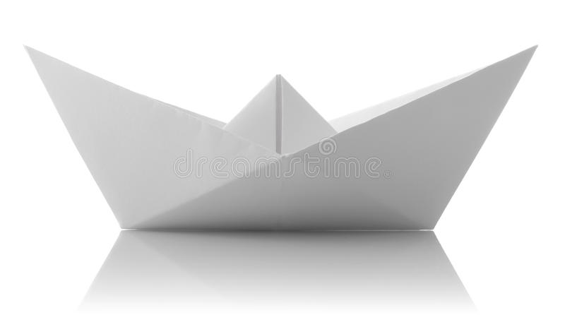 origami du bateau de papier photo stock image du origami blanc 22028632. Black Bedroom Furniture Sets. Home Design Ideas
