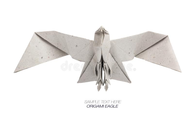 Origami eagle of craft paper royalty free stock image