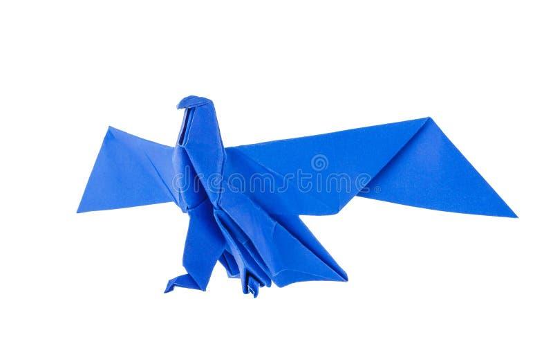 Origami eagle stock image