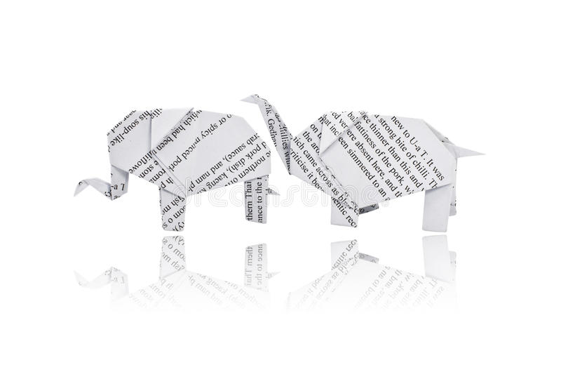 Origami Elefant. stockfotografie