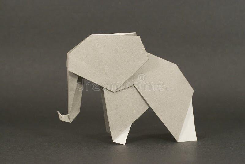 Origami Elefant stockfotos