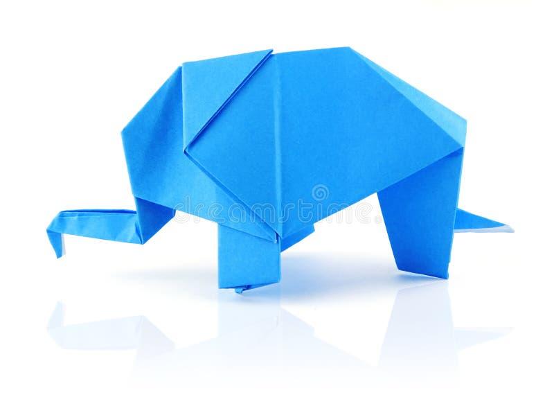 Origami Elephant Stock Image Image Of Animal Seal Blue 23392991