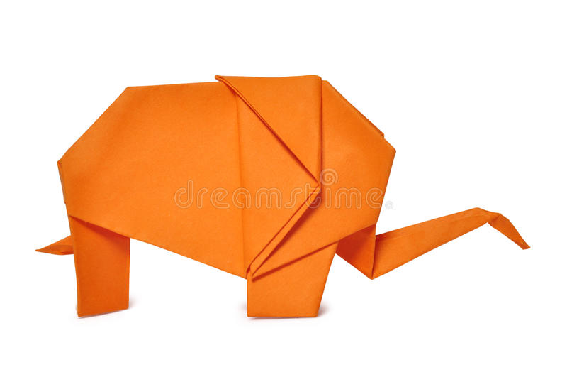 Download Origami elephant stock image. Image of game, south, safari - 23769825