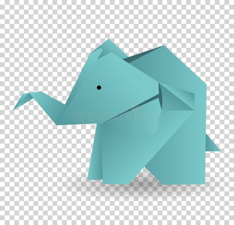 Origami elephant icon. Cartoon illustration of origami elephant vector icon for web. Origami elephant icon. Cartoon illustration of origami elephant vector icon royalty free illustration