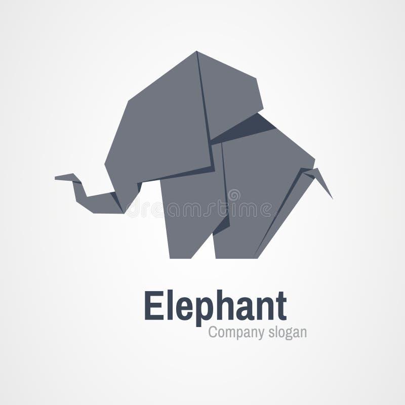 Origami Elephant Logo Stock Vector Illustration Of Icon 83894730