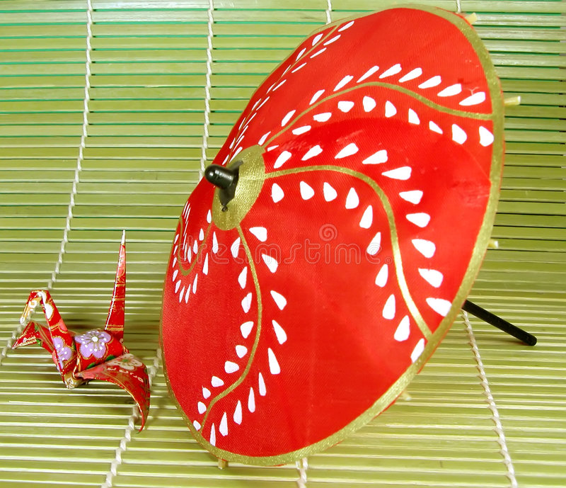 Origami en paraplu royalty-vrije stock fotografie