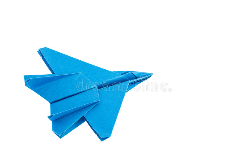 Origami F-15 Eagle Jet Fighter airplane royalty free stock images