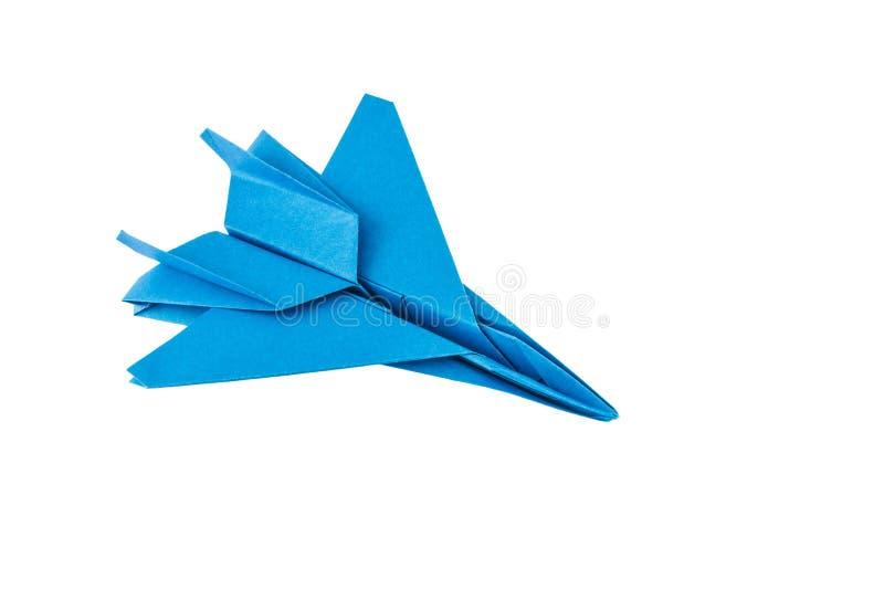 Origami F-15 Eagle myśliwa odrzutowego samolot obrazy stock
