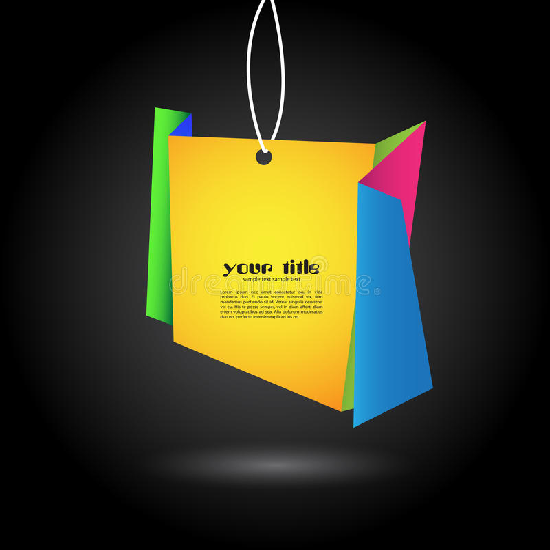 origami Fahne lizenzfreie abbildung